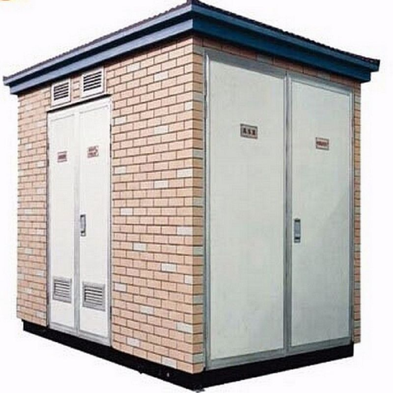 Outdoor Prefabricated Electrical Substation Box Low
